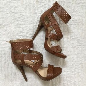 Jessic Simpson Perforated Strappy Heels
